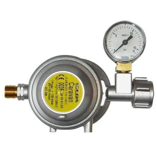 Niederdruckregler 1,5 kg/h 30 mbar, mit Manometer