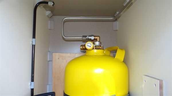 Stahl Tankflasche 6kg Eingebaut in WOMO