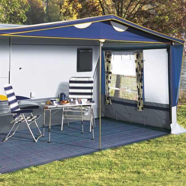 Zeltteppich Briolite Standard marineblau 300 x 400