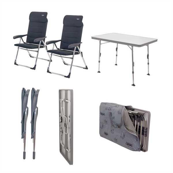 Stuhl/Tischset Valencia 2 Stühle, 1 Tisch, 1 Tasch