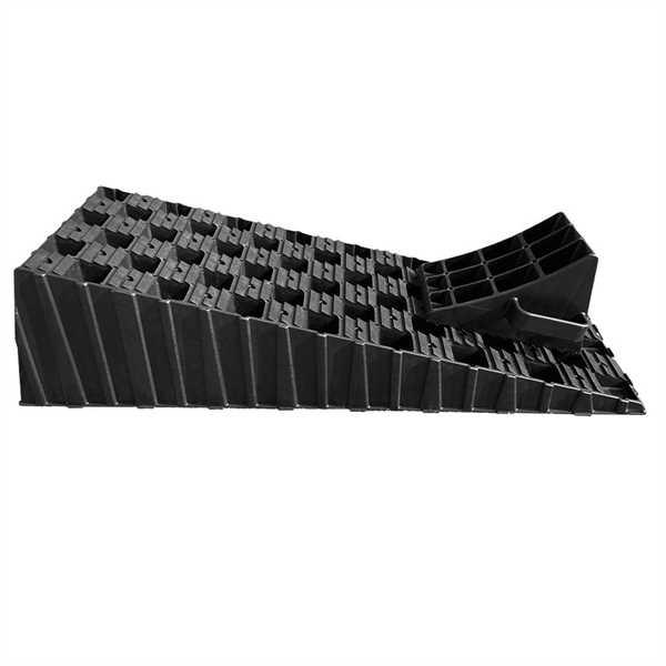 Stufenloser Auffahrkeil XL mit Parkstopper 1 Stück