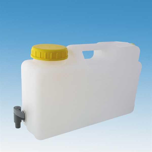 Raumspar Kanister mit Ablasshahn 12 Liter, DIN 96