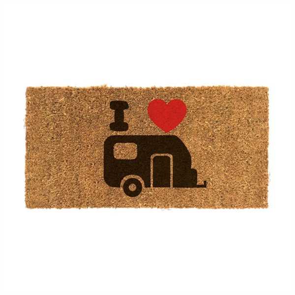 Kokosmatte mit Wohnwagen-Motiv Fußabstreifer