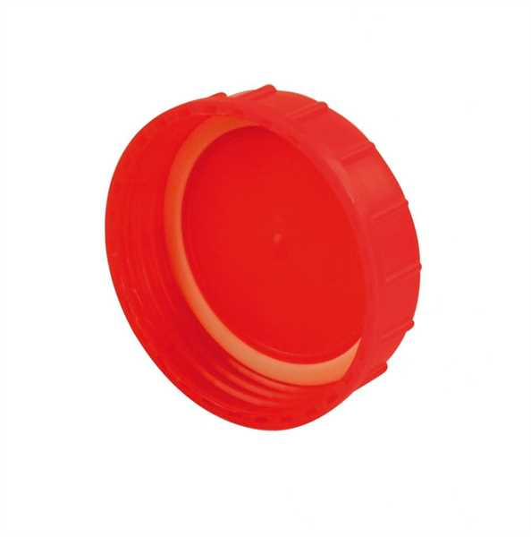 Schraubverschluss + Dichtung rot für Toilette Bi-P