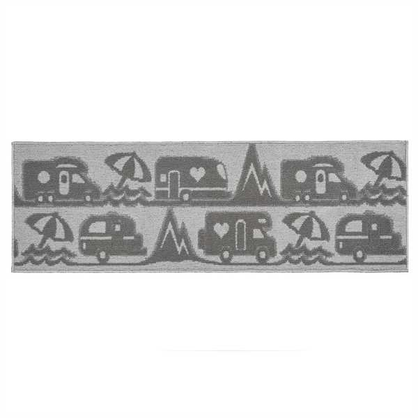 Teppich Master Camp grau, 50 x 100 x 1 cm