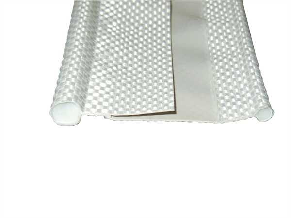 Textildoppelkeder silber, 6m Stück ø 7 x 3,5 mm