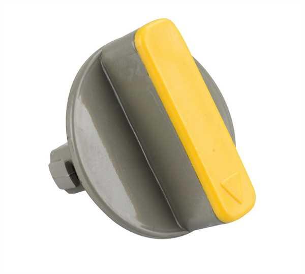Schieberknauf grau/gelb für Fäkalientank C2/C3/C4