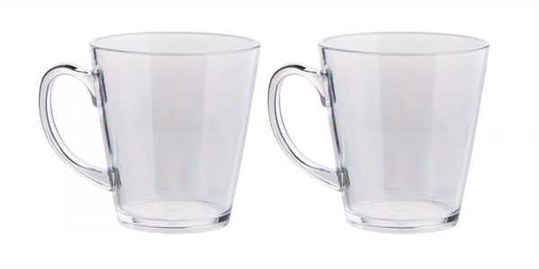 Teeglas 2er-Set, klar aus unzerbrechlichem Polycar